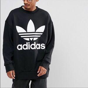 New - Adidas Oversized Crewneck Sweatshirt